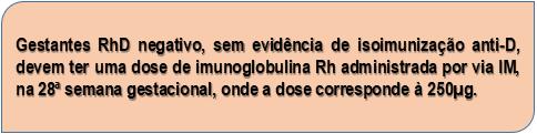 Doença Hemolítica Perinatal - Imunoglobulina